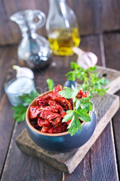 Asciugare pomodoro ciotola tavola alimentare sole Foto d'archivio © tycoon