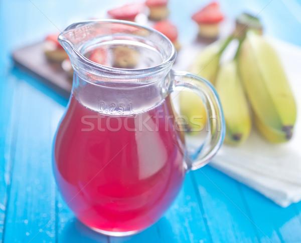Stock fotó: Eper · ital · gyümölcs · üveg · nyár · piros