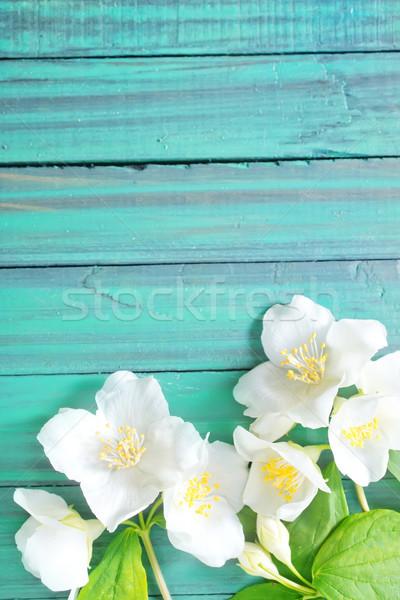 цветы дерево весны лес фон зеленый Сток-фото © tycoon