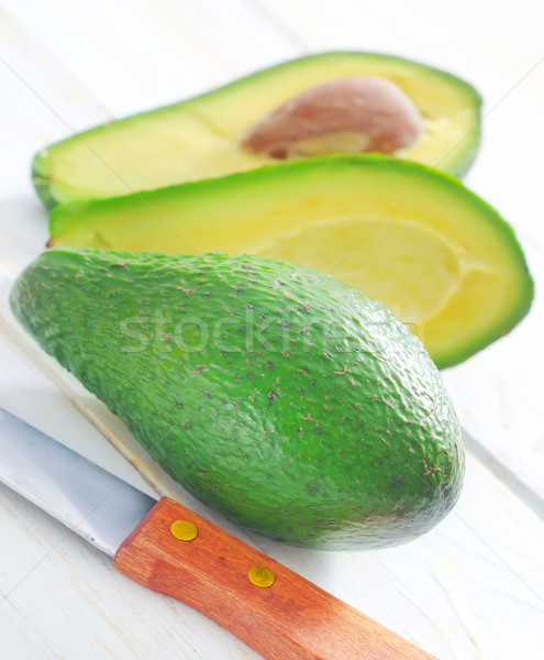 Avocat feuille fruits fond salade blanche Photo stock © tycoon