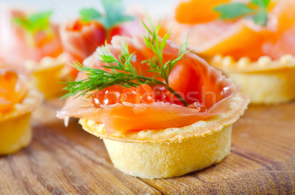 basket with salmon Stock photo © tycoon