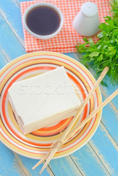 Stok fotoğraf: Soya · peyniri · peynir · arka · plan · Asya · Japon · pişirmek