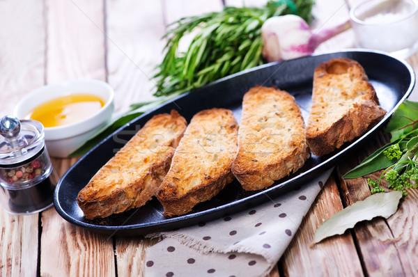 домашний хрустящий свежие травы хлеб чеснока Сток-фото © tycoon