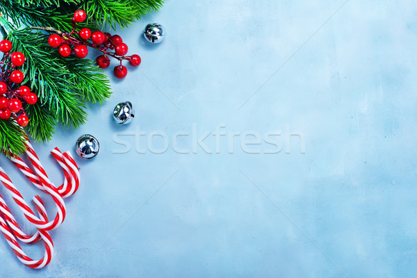 Christmas decoratie tabel hout abstract achtergrond Stockfoto © tycoon