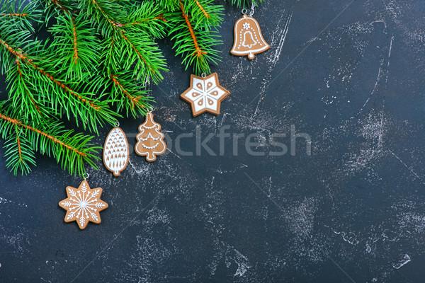 クリスマス 装飾 表 木材 抽象的な 背景 ストックフォト © tycoon