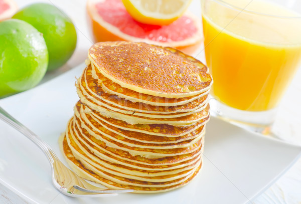 pancakes with fruit Stock photo © tycoon