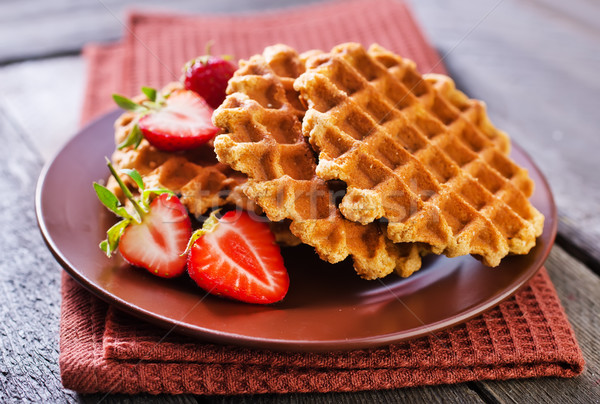 プレート 表 朝食 脂肪 調理 甘い ストックフォト © tycoon
