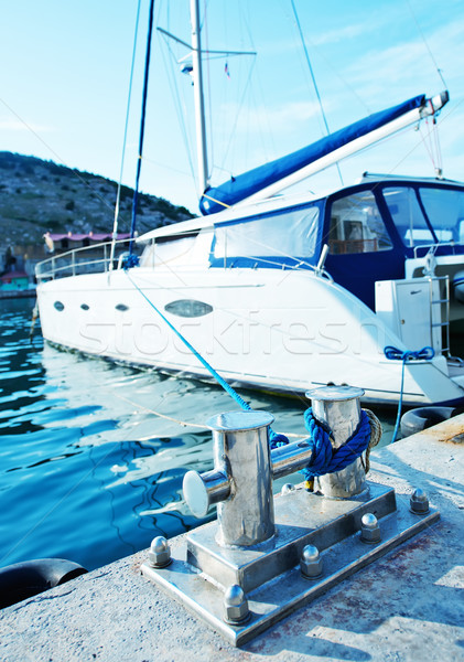 Boats and yachts in port Stock photo © tycoon
