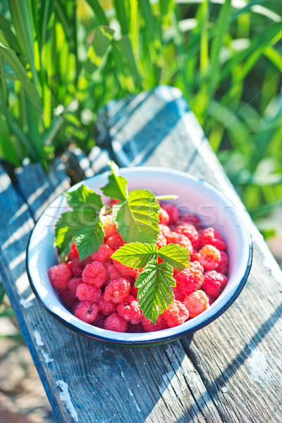 fresh raspberry Stock photo © tycoon