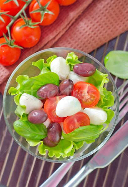 Капрезе фрукты нефть черный Салат томатный Сток-фото © tycoon