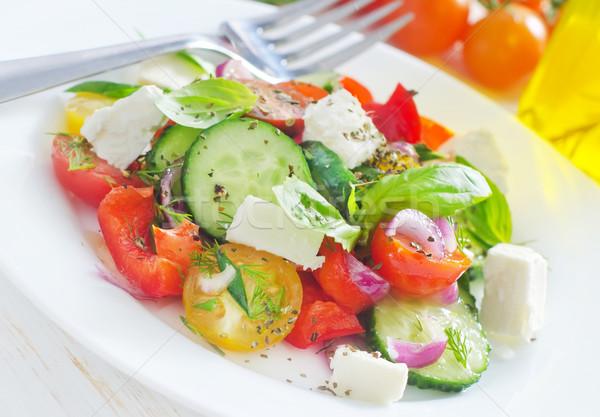 Greco insalata foglia verde olio cena Foto d'archivio © tycoon
