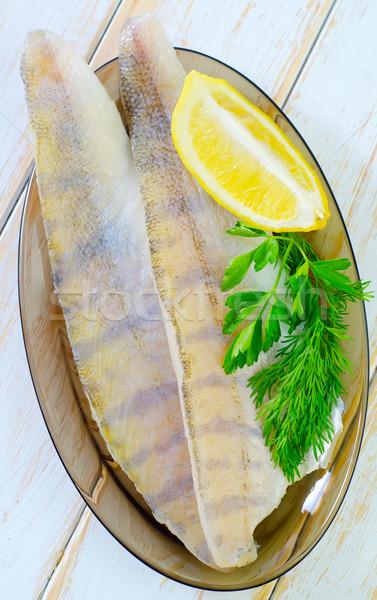 Fisch Essen Abendessen Essen Kochen Stock foto © tycoon