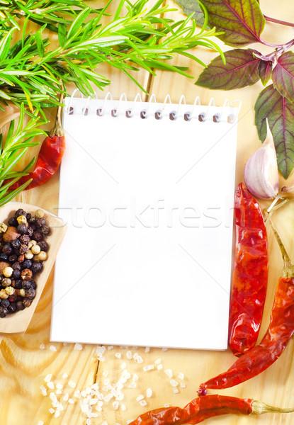 Dikkat lezzet baharat hayat bağbozumu biber Stok fotoğraf © tycoon