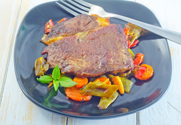 Stock photo: baked meat with vegetables