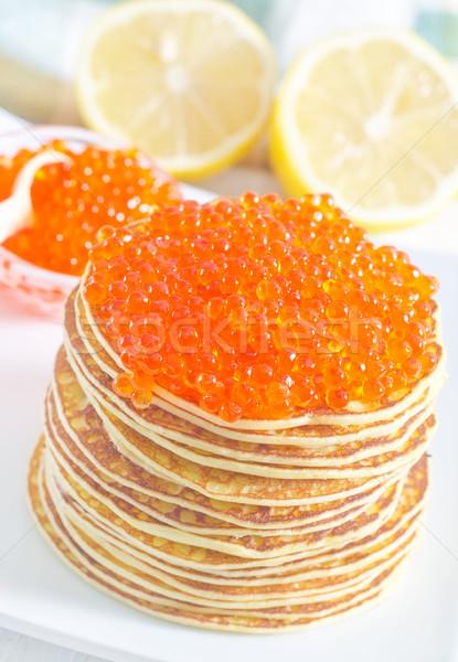 パンケーキ キャビア 食品 魚 オレンジ 食べる ストックフォト © tycoon