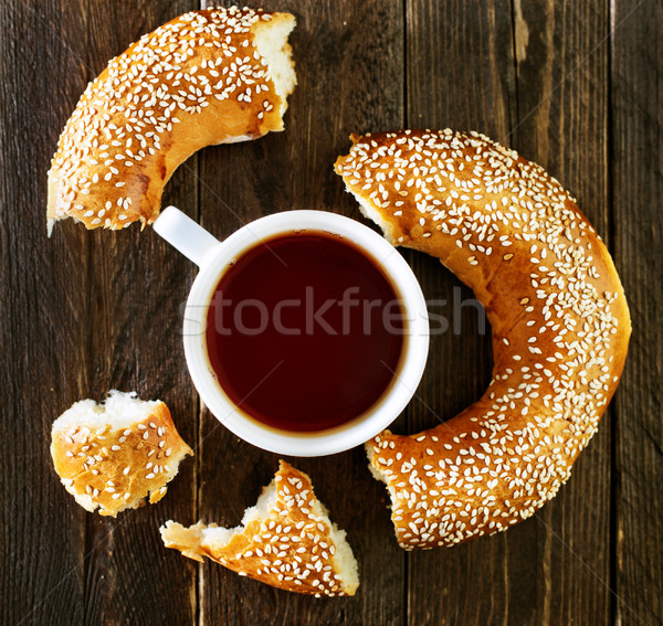 tea and bagel Stock photo © tycoon