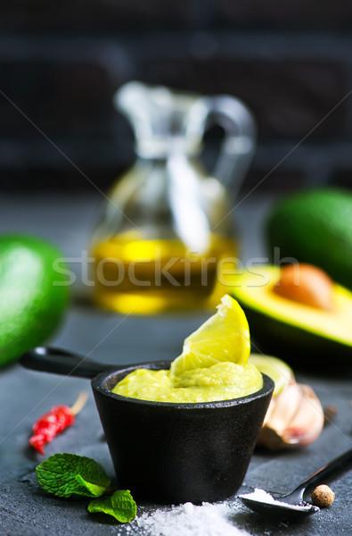 アボカド ソース 塩 石灰 ジュース ディナー ストックフォト © tycoon