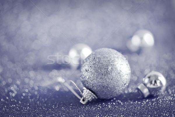 Natal decoração tabela relógio doce dom Foto stock © tycoon