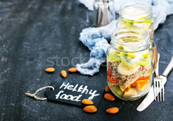 Fresche insalata banca vitamina cibo sano ingredienti Foto d'archivio © tycoon