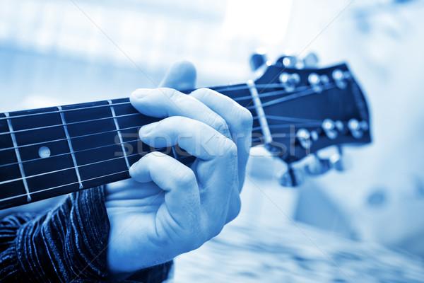 Gitara drewna taniec rock czarny jazz Zdjęcia stock © tycoon