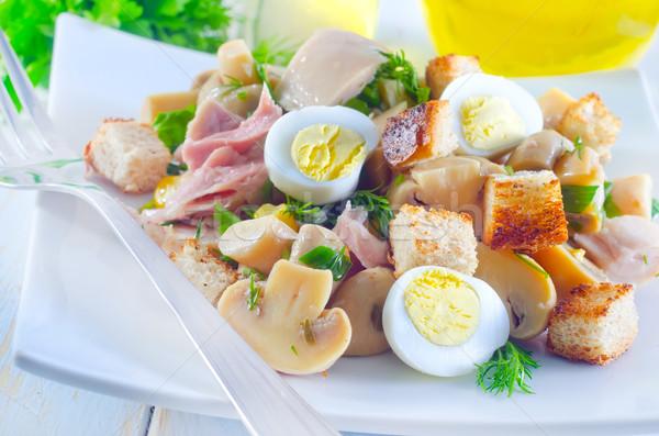 Stock fotó: Friss · saláta · tojás · narancs · mell · kenyér
