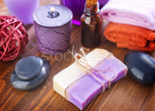 Sal marina jabón cuerpo petróleo bano spa Foto stock © tycoon