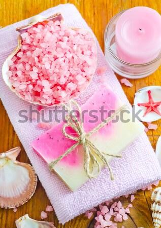 Deniz tuzu çiçek deniz dizayn sağlık yeşil Stok fotoğraf © tycoon