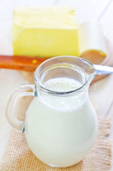 Milk in jug Stock photo © tycoon