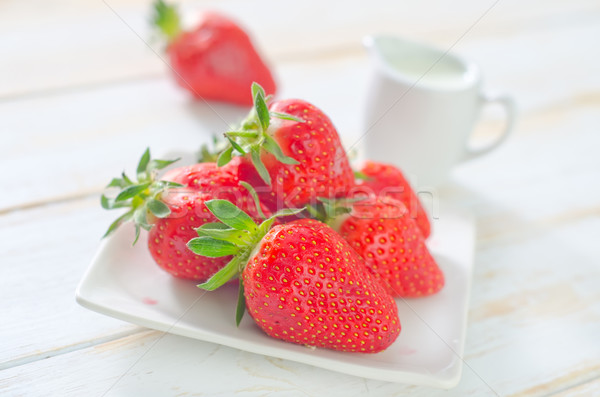strawberry with creams Stock photo © tycoon