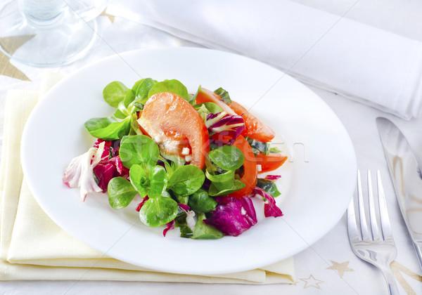 свежие Салат продовольствие фон обеда пластина Сток-фото © tycoon