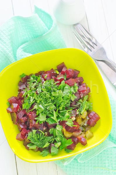 サラダ 食品 油 赤 プレート 白 ストックフォト © tycoon