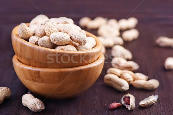 Arachidi ciotola tavola alimentare gruppo fresche Foto d'archivio © tycoon