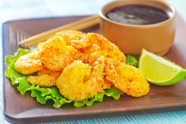 fried shrimps Stock photo © tycoon