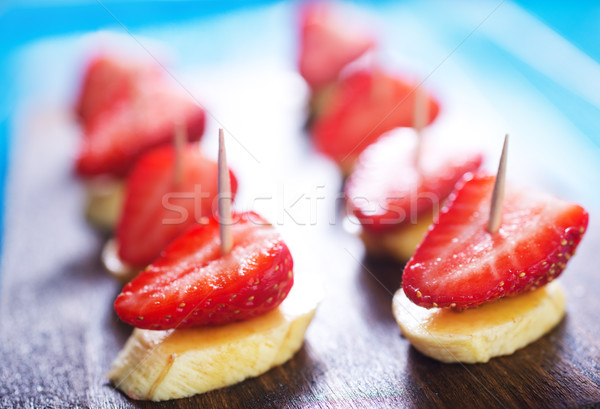canape with fruits Stock photo © tycoon