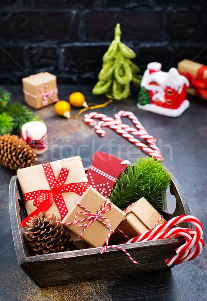 Natale decorazione tavola stock foto legno Foto d'archivio © tycoon