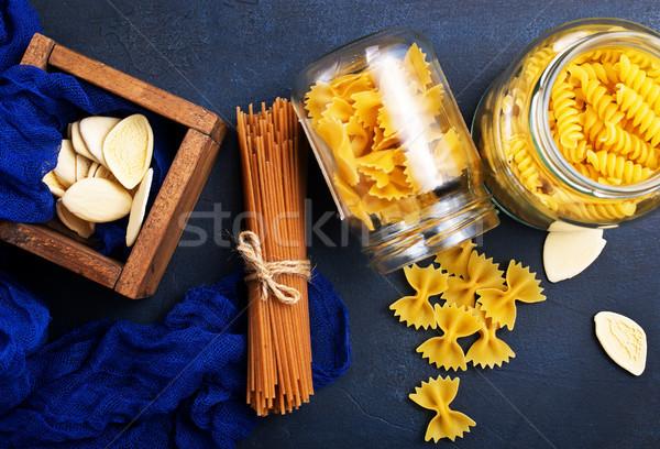Stock fotó: Tészta · különböző · nyers · asztal · étel · búza