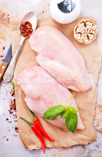 raw chicken fillet Stock photo © tycoon