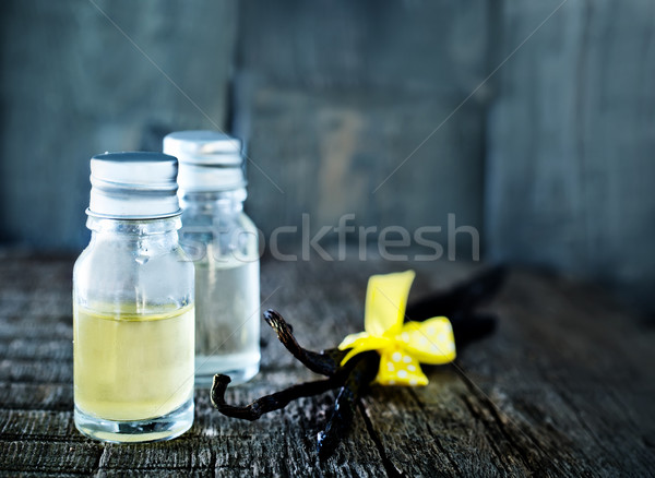 Aroma olie glas kom tabel bloem Stockfoto © tycoon