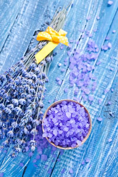 Zeezout lavendel tabel zee groene geneeskunde Stockfoto © tycoon