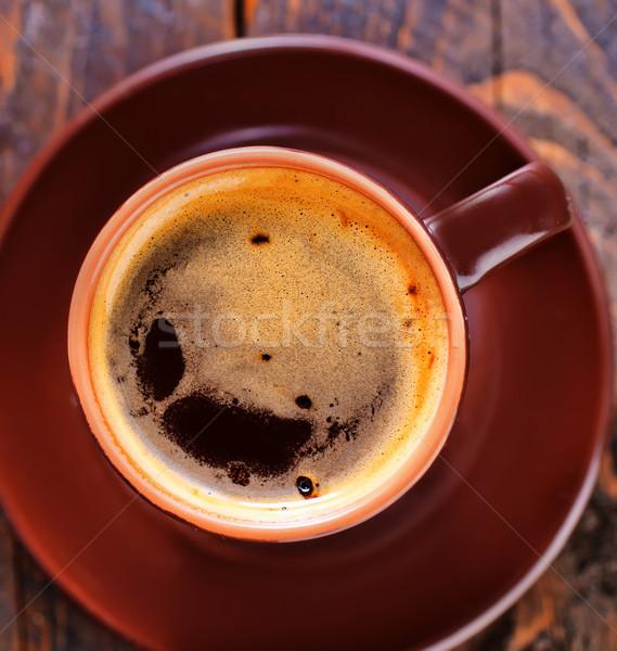 Café bois café noir déjeuner liquide Photo stock © tycoon