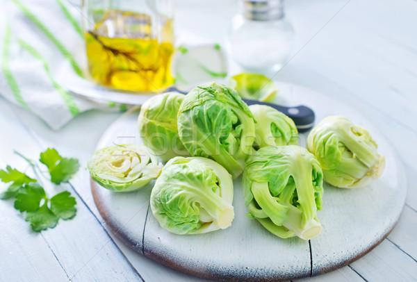 ストックフォト: テクスチャ · 食品 · 表 · 頭 · サラダ · 食べる