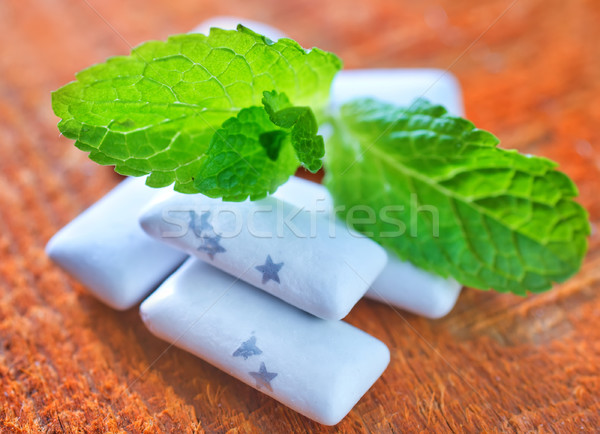 Stock photo: mint gum