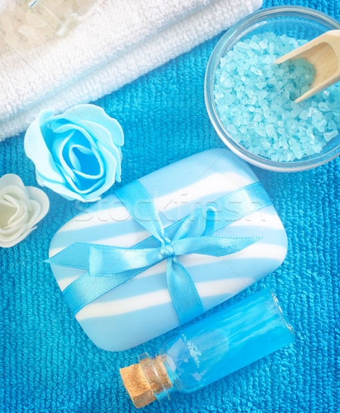 sea salt,soap and oil Stock photo © tycoon