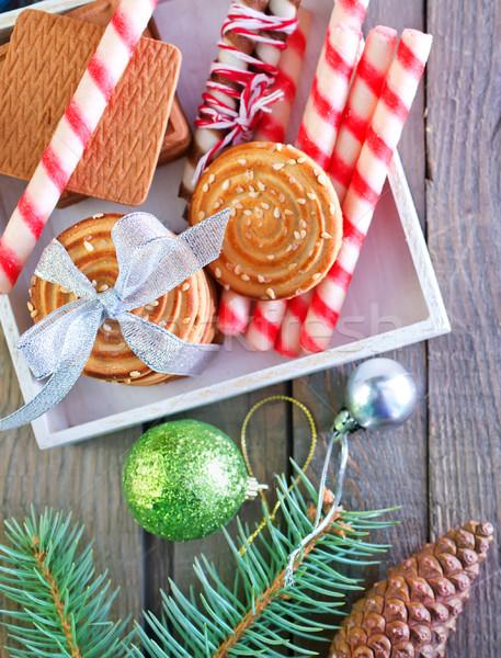 Stok fotoğraf: Noel · kurabiye · dekorasyon · ahşap · ağaç · güzellik