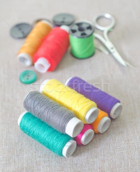 Projektu zielone niebieski przemysłu czerwony ubrania Zdjęcia stock © tycoon