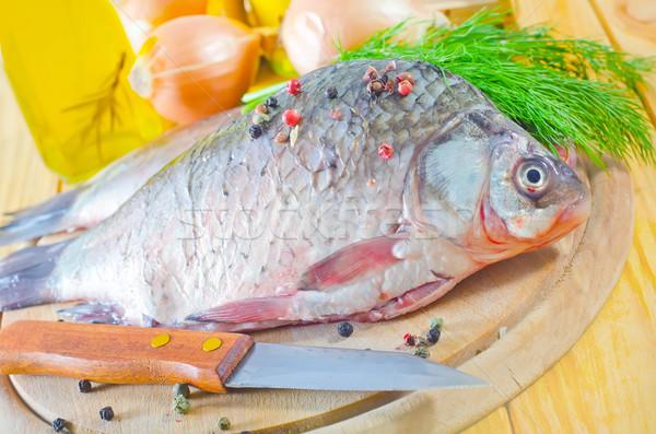Vers karper water vis gezondheid groene Stockfoto © tycoon