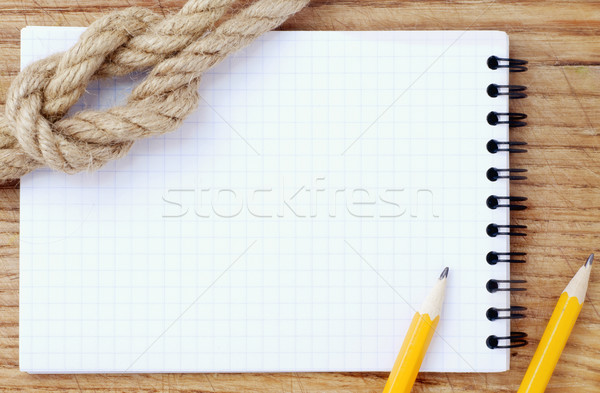 note and pencils Stock photo © tycoon