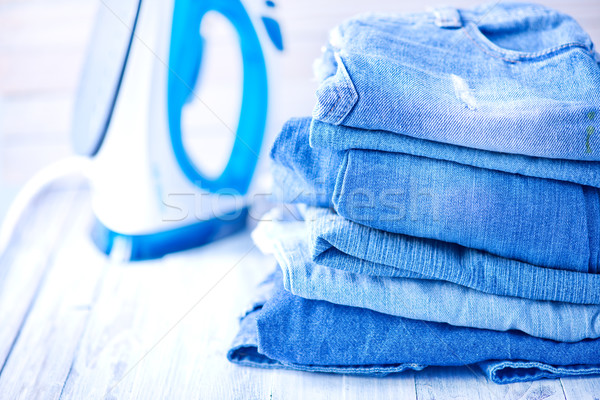 stack of jeans Stock photo © tycoon