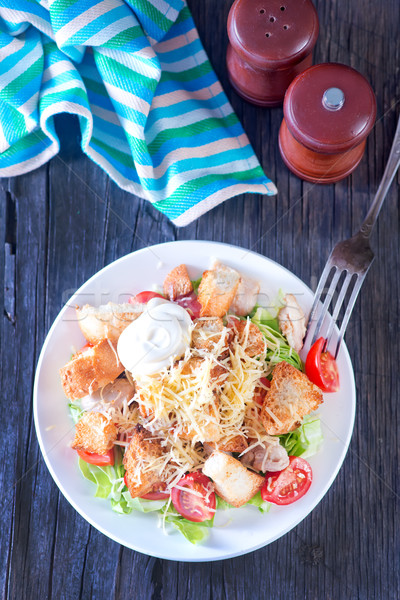 Plaka tablo gıda peynir bıçak Stok fotoğraf © tycoon