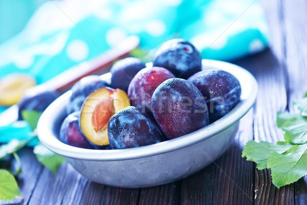 свежие чаши таблице продовольствие фрукты Сток-фото © tycoon